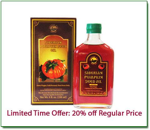 fresh extra virgin pumpkin seed oil